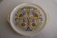 Deruta Italy Hand Painted Serving Platter by Indigomtnartandhome on Etsy