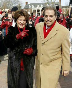 Alabama's Coach Nick Saban and his wife, Terri Roll Tide Football, Sec Football, Fall Football, Crimson Tide Football, Best Football Team, Alabama Football, Alabama Crimson Tide, College Football, Univ Of Alabama