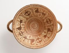 Greek Skyphos with Warriors and Riders from LACMA was made in 740-720 B.C