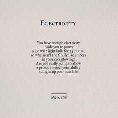 electricity #poetry #quotes   pinterest ↣ @kkatieclaire