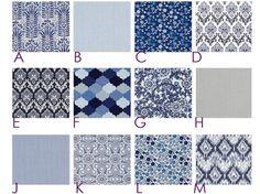 IKAT  Wedgewood Blue and Gray  Custom Crib Bedding Set by HappyMae, $185.00