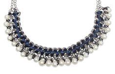 Bijou Brigitte  Kette - Blue & Pearls