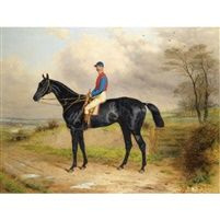 Lord Pouletts celebrated racehorse quotThe Lambquot with George Ede up by Harry Hall