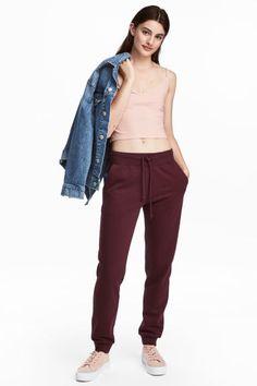 Pantalón de chándal - Burdeos - MUJER   H&M ES