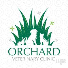 Logo for sale: This is modern and simple and friendly design that creatively incorporates a dog and cat and rabbit into one unified compact design.