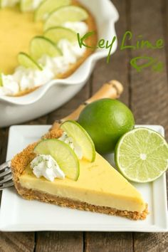 Key Lime Pie with Graham Cracker Crust - A classic recipe with a zesty punch of citrus! Homemade Cake Recipes, Homemade Pie, Tart Recipes, Dessert Recipes, Dessert Tarts, Dessert Ideas, Lime Desserts, Just Desserts, Delicious Desserts