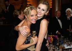 Joanne Froggatt and Laura Carmichael at the 72nd Annual Golden Globe Awards at The Beverly Hilton Hotel on January 11, 2015 in Beverly Hills, California.  They are both so lovely.