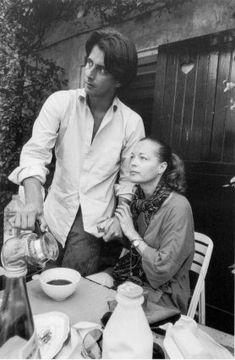 06/09/1981, région parisienne, chez la famille Pétin - Romy Schneider & Laurent Pétin - photographie de Robert Lebeck