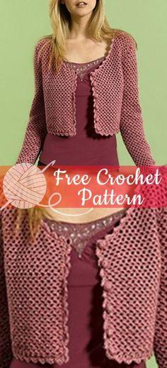 22 Ideas Crochet Free Cardigan Haken For 2019 Knitting Patterns Free, Free Knitting, Free Crochet, Crochet Top, Crochet Patterns, Irish Crochet, Knitting Ideas, Crochet Ideas, Knitting Sweaters