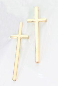 Gold Lovely Vintage Cross Crucifix Earrings #SheInside