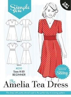 41581cd0668d Simple Sew Sewing Pattern Amelia Tea Dress Size 6 - 20 Half
