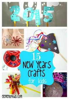 15 New Years Eve Activities for Kids - eLeMeNO-P Kids - - Ring in 2015 with this awesome collection of New Years crafts for kids! From sparklers to sensory dough, we've got it all covered! New Year's Eve Activities, Holiday Activities, Craft Activities For Kids, Preschool Crafts, Kids Crafts, Senior Activities, Preschool Learning, Teaching, New Years With Kids