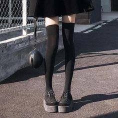 6b25679b468 Black Velvet High Knee Tights SD01068 - SYNDROME - Cute Kawaii Harajuku  Street Fashion Store
