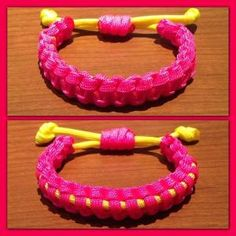 Adjustable & Reversible 2 Color Paracord Bracelet by cheri