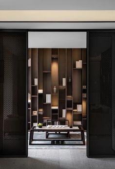程绍正韬|新作 顶层复式 珠海 恒荣•城市溪谷 |样板间 Valley City, New Chinese, Bookshelves, Room, Furniture, Home Decor, Style, Behance, India