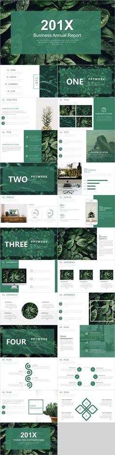 Design presentation green New Ideas Powerpoint Design Templates, Professional Powerpoint Templates, Ppt Design, Creative Powerpoint, Powerpoint Tips, Brochure Design Inspiration, Design Trends, Business Design, Business Company