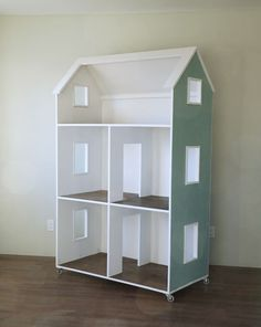 """Build a DIY Three Story American Girl Doll or 18"""" Dollhouse   Free and Easy DIY Project and Furniture Plans"""