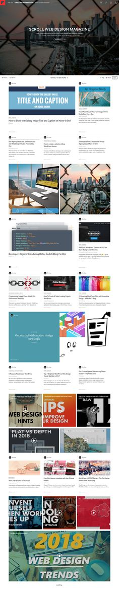 SCROLL Magazine - A web design magazine for the non-coder, visual designer and WordPress. Themes - UX - Design - Email Marketing - Social Media Marketing & Advertising.