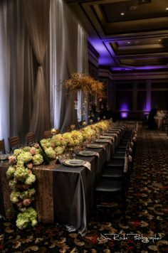 Stunning king's table with a table runner created entirely of flowers. Kings Table, Jackson, Bridal Show, Baby Shower Themes, Corporate Events, Open House, A Table, Wedding Venues, Table Decorations