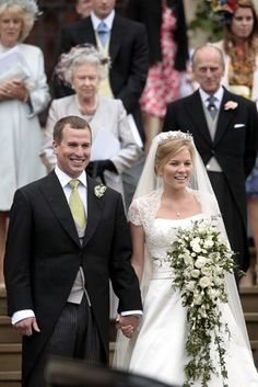Peter Philips & Autumn Kelly on their wedding day, May 17, 2008. Son of Princess Anne and Mark Phillips and the Queen's oldest grandson.