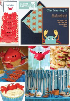 Online Invitations, Electronic Invitations, Baby Shower Invitations, Under The Sea Party, Crab Invitations