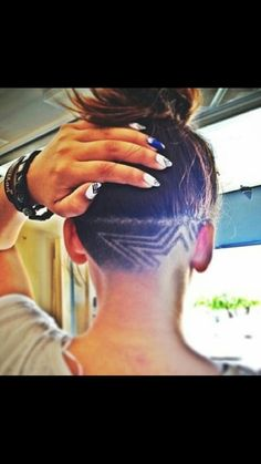 Undercut star design, Geez Louise, it's awesome.