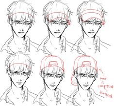 How to draw a visor and backwards cap