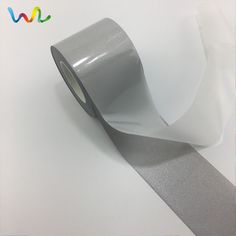 Silver Reflective Sew On Tape Gray 50 mm Wide Hi Visibility 5 Metre Length