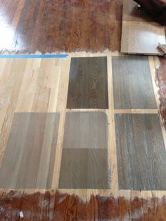 Image result for before and after pics of traditional brown hardwood floors stained to light grey