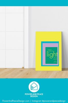 I have come as light into the world. –Jesus [John 12:46]  Be reminded of the light Jesus gives us with this bright colorful Christian canvas.   The bold color combinations in this religious wall art will add life to any room in your home -- including your child's.  This modern geometric Bible art is available in 6 bright color combinations. Choose the one that suits your colorful style!  #colorful #colorfuldecor #brightboldhome #Jesus #Christian #John12:46 #Christiancanvas #yellow