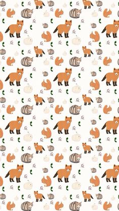 Find images and videos about pattern and fox on we heart it - the app to get lost in what you love. Fall Wallpaper, Wallpaper Iphone Cute, Animal Wallpaper, Cellphone Wallpaper, Cute Wallpapers, Wallpaper Backgrounds, Fox Background, Background Patterns, Fox Illustration