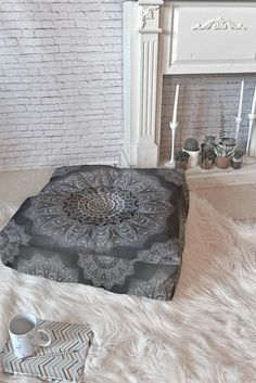 Monika Strigel SERENDIPITY BLACK Floor Pillow Square | DENY Designs Home Accessories