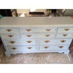 SAMPLE: 10 Drawer Gray Dresser Buffet changing by SimonSaysSalvage