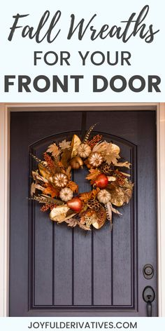 Your front door is the perfect place to add some fall flair! Here are 15 front door wreaths you can buy for $30 or less. Use these wreaths to add a touch of fall to your home on a budget. Primitive Fall Decorating, Porch Decorating, Modern Fall Decor, Fall Home Decor, Wreaths For Front Door, Door Wreaths, Rustic Outdoor Decor, Outdoor Ideas, Table Setting Inspiration