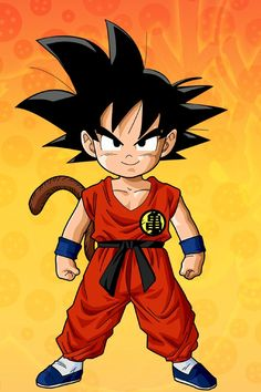 Goku as a kid....check out that monkey tail