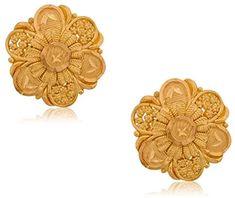 Senco Gold Yellow Gold Stud Earrings for Women Gold Ring Designs, Gold Earrings Designs, Gold Jewellery Design, Gold Jewelry Simple, Gold Rings Jewelry, Nose Jewelry, Diamond Jewelry, Gold Jhumka Earrings, Stud Earrings