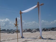 HOT SPECIAL  Bamboo Beach Wedding Arch  by BeachWeddingSupply, $175.00