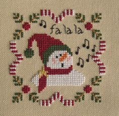 Fa La La La Laaa ... The free pattern can be found via the link on this blog - Merry Christmas!