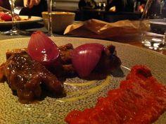 Pork cheek with aubergine.