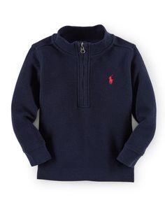 Waffle-Knit Cotton Sweatshirt - Baby Boy Sweaters - RalphLauren.com