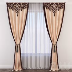 This excellent photo can be an inspiring and really good idea - Custom Drapes - Luxury Curtains, Elegant Curtains, Home Curtains, Beautiful Curtains, Curtains Living, Modern Curtains, Curtain Patterns, Curtain Designs, Rideaux Design