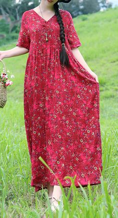 French burgundy cotton linen dresses Fine Sewing prints Maxi summer Dress – Daily Fashion Tips Next Dresses, Women's Dresses, Fashion Dresses, Dresses For Work, Wedding Dresses, Elegant Summer Dresses, Stylish Dresses, Casual Dresses, Girly Outfits