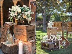 Decoração de Casamento Rústico : 10 itens essenciais!   http://blogdamariafernanda.com/decoracao-de-casamento-rustico-10-itens-essenciais