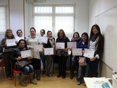 Mis alumnos del curso de extensión de pestañas del día 18/1/2015. Fue una grata experiencia. Suerte chicas y chico! ;)