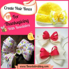 Creative DIY Hair Bows for Thanksgiving. These ideas are easy, fun and creative.