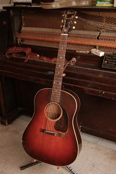 The True Vintage Guitar Blog: A Banner Gibson J-45 Cloaked in Rare Flame Maple