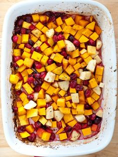 Butternut Squash, Cranberry, and Apple Bake - looks good!
