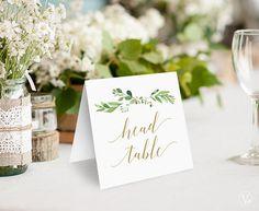 Greenery Wedding Table Numbers 140 Wedding Table Numbers