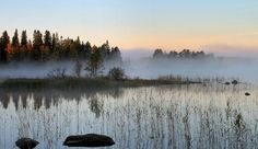 Shallow Fog over the Lake Oulujärvi | September 2016 | Photo: Aila Karjalainen
