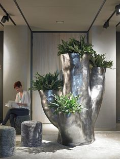 #pottery #pots #containers #planters   Tree Amazing planter finished with Dark Silverleaf
